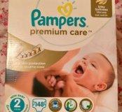 Подгузники Pampers premium care 2( 3-6 кг) 74 шт