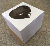 Коробка для тортов 30х30х25 с окном