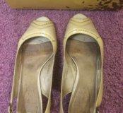 Летние туфли натуральная❗️кожа р.39