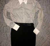 Рубашка и юбка-карандаш