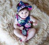Комбинезон с повязкой для малышки