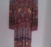 Платье трикотажное длинное