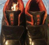 Кожаные осенние ботинки на мальчика