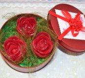 Розы в подарочной шкатулке
