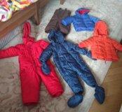 74-80-86 пакет одежды зима осень для мальчика