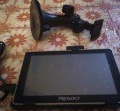Навигатор Prology, с чехлом и держателем на стекло