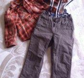 Модные брюки и рубашка HM, Mothercare