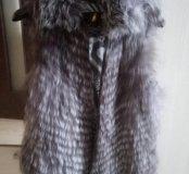 Меховая жилетка чернобурка новая