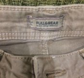 Бежевые джинсы pull & bear