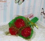Букет из трех роз