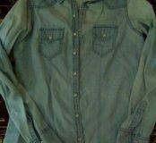 Рубашка,джинсовая