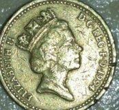 Монета 1 фунт, Англия