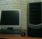Комплект ПК (монитор, пк, клавиатура и мышь)