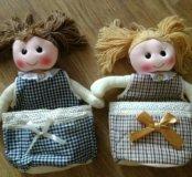 Кукла интерьерная с карманом