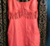 Платье экокожа 40 р