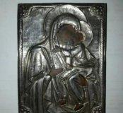 Икона Тольская Богородица 1879 год Серебро