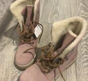 Ботинки tamaris розовые 37