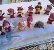 Игрушки киндер из разных серий Маша и Медведь