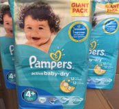 Pampers Active Baby Dry 4+ 70шт