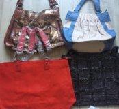 Женские сумки пакетом новые 7 шт