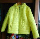 Клевая курточка с ушками новая