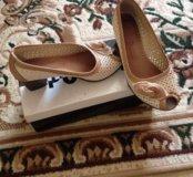 Туфли летние мягкая натуральная кожа