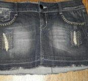 Юбка джинс 44