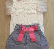 Костюм шорты/блузка