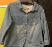 Рубашка джинсовая Детская Zara 18/24 мес