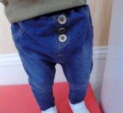 Модные приспущенные джинсики