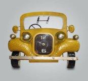 Настенные часы ⌚️ машинка в стиле ретро