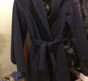 Пальто демисезон., р. 42, темно-синее
