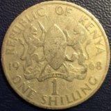 Монета Кении, 1 шиллинг 1968 (крупная)