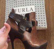 Туфли кожаные ботильоны оригинал брендовые