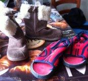 Сапожки весна Clark's р24 + сандали