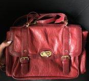 Сумка красная портфель