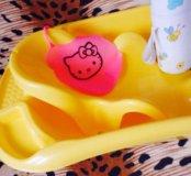 Ванночка с принадлежностями для новорожденного