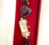 Часы женские, ручная работа, натуральные камни