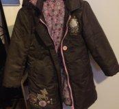 Пальто на весну девочке 116-122