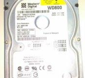 """Жёсткий диск 3.5"""" WD800JB-00FMA0 80ГБ IDE"""