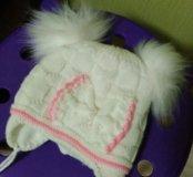 Новая зимняя шапка для новорожденной