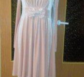 Платье велюр пудра можно для беременных
