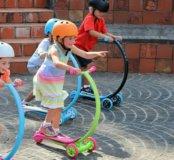 Самокат Зайком со светящимися колесами