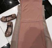 Платье Prada 44 и балетки Louis Vuitton оригинал