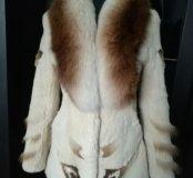 Шубка-куртка из кролика с лисой