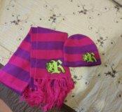 Шапка детская и шарф