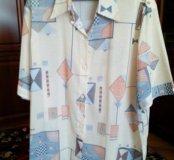 Женская рубашка,большой р-р 62-64