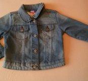Новая джинсовая куртка на девочку р.92