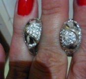 Серьги,серебро 925,фианиты