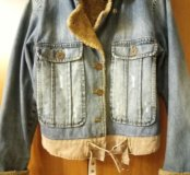 Джинсовая куртка. Тёплая. XL